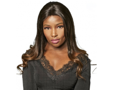 "Lace wig Deluxe "" Rosa """