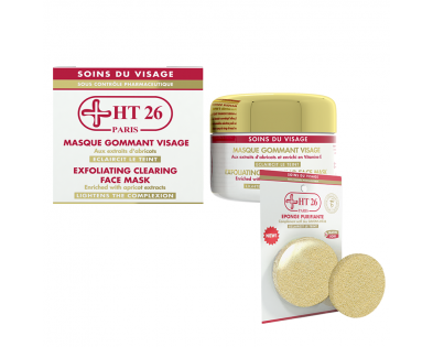 HT26 - Exfoliating Clearing Face Mask + Cleansing Sponge